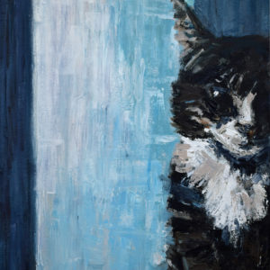 cat, portrait, feline, SBBoursot, painting, art, artist,
